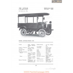 Autocar Truck Xxi Fiche Info 1912