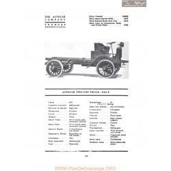 Autocar Two Ton Truck Xxif Fiche Info 1919