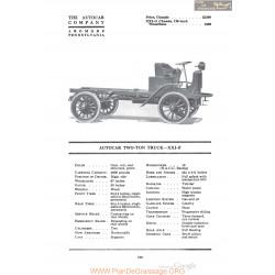 Autocar Two Ton Truck Xxif Fiche Info 1920
