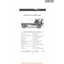 Autocar Two Ton Truck Xxlf Fiche Info 1916
