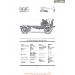 Autocar Two Ton Truck Xxxif Fiche Info 1916