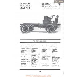 Autocar Xxif Fiche Info 1917