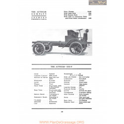 Autocar Xxxif Fiche Info 1917