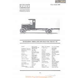 Bethlehem Three And One Half Ton Truck Fj Fiche Info 1920