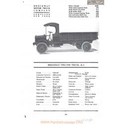 Brockway Two Ton Truck K3 Fiche Info 1918