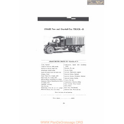 Chase Two And One Half Ton Truck B Fiche Info 1916