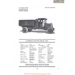 Clydesdale Five Ton Truck 120b Fiche Info 1919