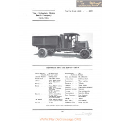 Clydesdale Five Ton Truck 120b Fiche Info 1922