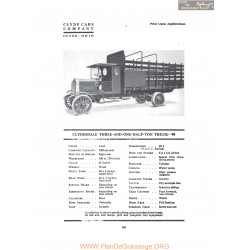 Clydesdale Three And One Half Ton Truck 90 Fiche Info 1919