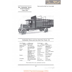 Clydesdale Three And One Half Ton Truck 90 Fiche Info 1922