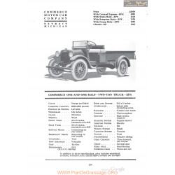 Commerce One And One Half Two Ton Truck Epa Fiche Info 1920