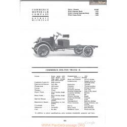 Commerce One Ton Truck E Fiche Info 1918