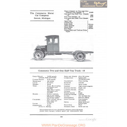 Commerce Two And One Half Ton Truck 18 Fiche Info 1922