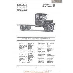 Corbitt Two And One Half Ton Truck B Fiche Info 1920
