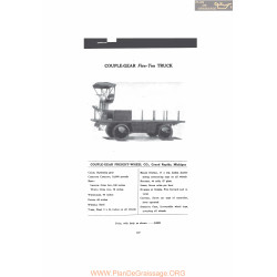 Couple Gear Five Ton Truck Fiche Info 1916