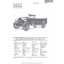 Dart 1000 Pound Commercial Car Model Bb Fiche Info 1917