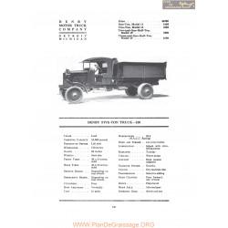 Denby Five Ton Truck 210 Fiche Info 1919
