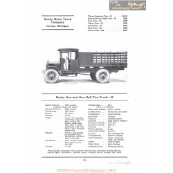 Denby One And One Half Ton Truck 33 Fiche Info 1922