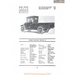 Denby One Ton Truck R Fiche Info 1917