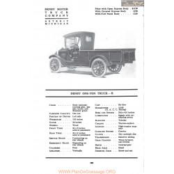 Denby One Tontruck R Fiche Info 1917