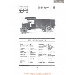 Denby Two Ton Truck H Fiche Info 1917