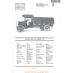 Dendy Two Ton Truck H Fiche Info 1917