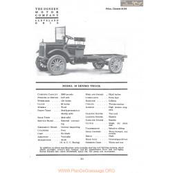 Deneen Model 10 Denmo Truck Fiche Info 1917