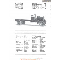 Diamond T Three And One Half Ton Truck Lb Fiche Info 1920