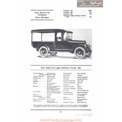 Dort Half Ton Light Delivery Truck 109 Fiche Info 1922