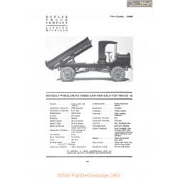 Duplex 4 Wheel Drive Three And One Half Ton Truck E Fiche Info 1919