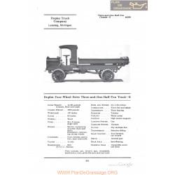 Duplex Four Wheel Drive Three And One Half Ton Truck E Fiche Info 1922