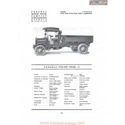 Federal Five Ton Truck X Fiche Info 1917