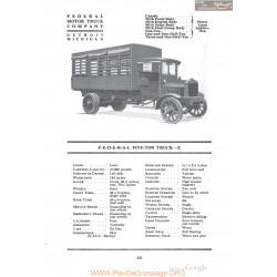 Federal Five Ton Truck X Fiche Info 1918