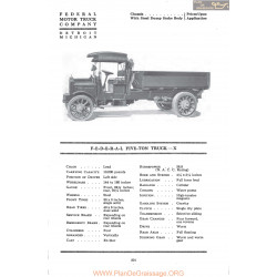 Federal Five Ton Truck X Fiche Info Mc Clures 1917