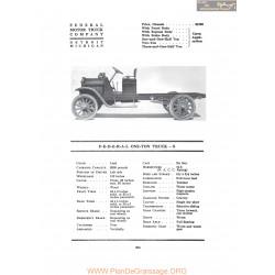 Federal One Ton Truck S Fiche Info 1917