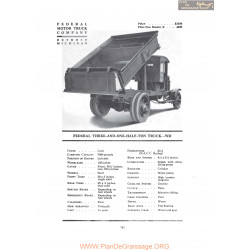 Federal Three And One Half Ton Truck Wd Fiche Info 1919
