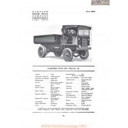 Garford Five Ton Truck 68 Fiche Info 1919