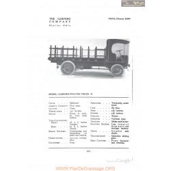 Garford Five Ton Truck D Fiche Info 1912