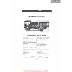 Garford Five Ton Truck D Fiche Info 1916 Mc Clures