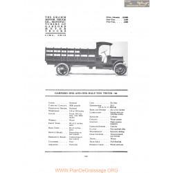 Garford One And One Half Ton Truck 66 Fiche Info 1916