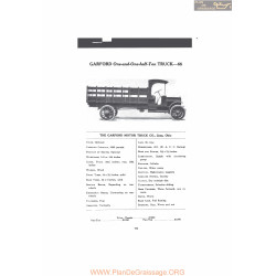 Garford One And One Half Ton Truck 66 Fiche Info Mc Clures 1916