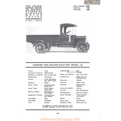 Garford One And One Half Ton Truck 66 Fiche Info Mc Clures 1917