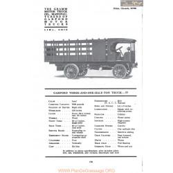 Garford Three And One Half Ton Truck 77 Fiche Info 1917