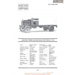 Garford Three And One Half Ton Truck 77d Fiche Info 1920