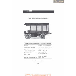 Gv Electric Two Ton Truck Fiche Info Mc Clures 1916