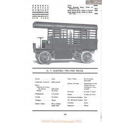 Gv Electric Two Ton Truck Fiche Info Mc Clures 1917