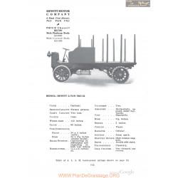 Hewitt 2 Ton Truck Fiche Info 1910