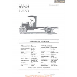 Jones One Ton Truck 31a Fiche Info 1920