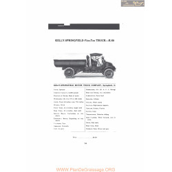 Kelly Springfield Five Ton Truck K50 Fiche Info Mc Clures 1916