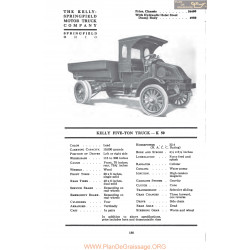 Kelly Springfield Five Ton Truck K50 Fiche Info Mc Clures 1917